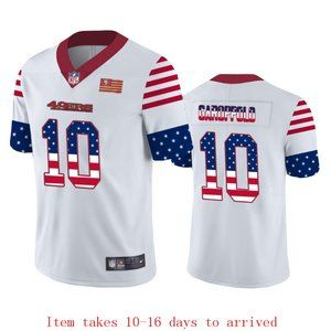 49ers #10 Jimmy Garoppolo Jersey Independence Day